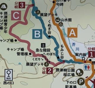 摂津峡地図